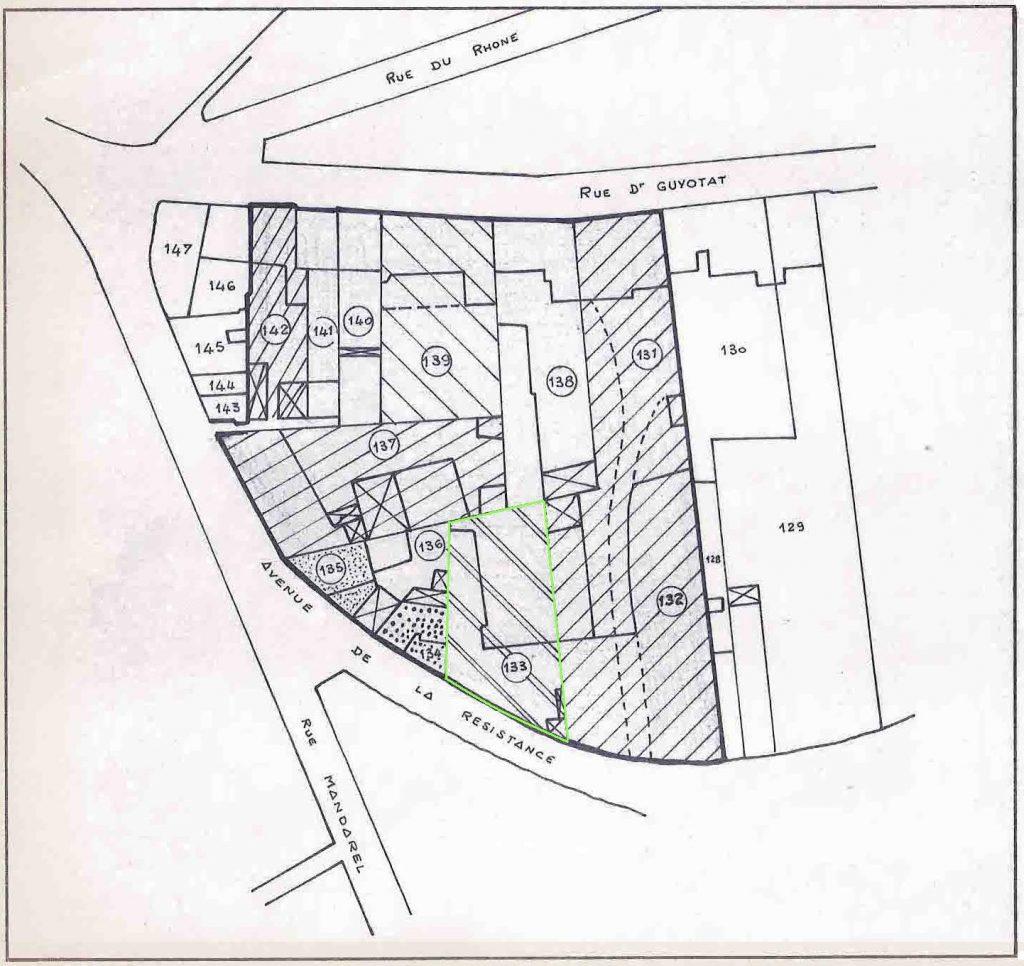 Plan du Quartier gites de paterne avenue de la résistance