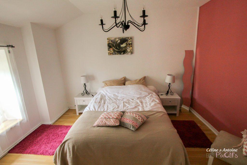 Chambre gites de paterne vieux rose romantique oiseau